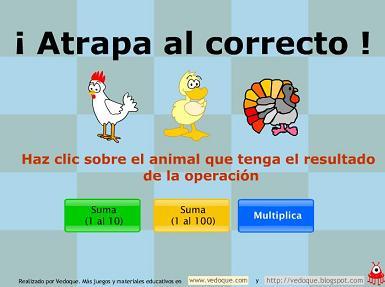 SUMA Y MULTIPLICA ATRAPANDO ANIMALITOS