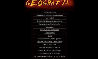 CONTENIDOS DE GEOGRAFÍA