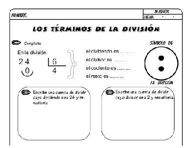 FICHAS DE DIVISIONES