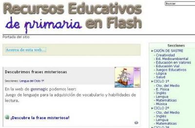 RECURSOS EDUCATIVOS DE PRIMARIA EN FLASH